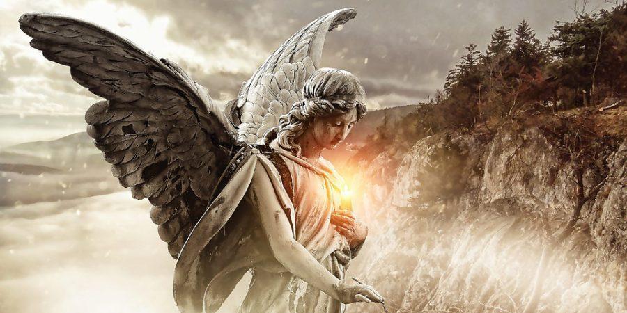 niezwykły obraz anioła stróża